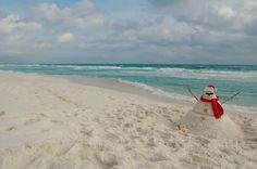 Christmas on Pensacola Beach ~ 2012 Beach Christmas, Beach Holiday, Holiday Fun, Gulf Coast Beaches, Frosty The Snowmen, Snowman, Christmas Landscape, Pensacola Florida, Beautiful Christmas Trees