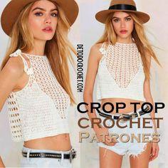 Como tejer un crop top crochet moldes y varios modelos