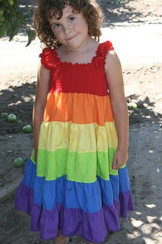Twirlalicous Rainbow Dress Toddler by BuggBooDesigns on Etsy