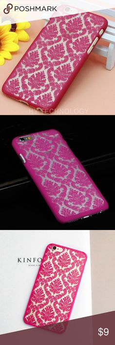 iPhone 6/6s Fashion Damask Vintage Flower case iPhone 6/6s Fashion Damask Vintage Flower case Hot Sale Fashion Stylish Damask Vintage Flower Pattern Back Cover Hard case for Apple iPhone 6 / 6s, 4.7inch Stylish protection with shock resistance, anti-scratch, anti-knock features. Brand new Color: Rose Pink Accessories