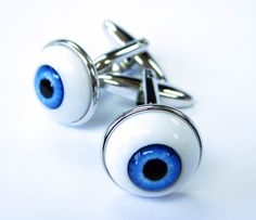 3D Eye Ball Cufflinks Eye Specialists Doctor Cuff Links Halloween Gemelos