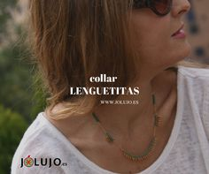 Collar Lenguetitas verde. www.jolujo.es