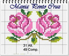 Crochet Bedspread, Tapestry Crochet, Cross Stitch Rose, Cross Stitch Flowers, Hardanger Embroidery, Cross Stitch Embroidery, Cross Stitch Designs, Cross Stitch Patterns, Bead Crochet Patterns