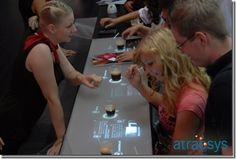 interactive touch screen  Interactive presentations in restaurants or bars: menus, drink lists, etc.  * Let your customers order their drinks via the atracBar interface  * Entertain your customers and create any kind of atmosphere thanks to the infinite possibilities that the atracBar can offe