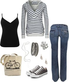 Love the Hoodie, great outfit for any day, created by hayleejade3 on Polyvore