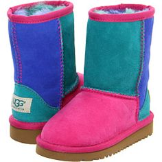 Cute Colorful Uggs!  (ugg kids classic patchwork)