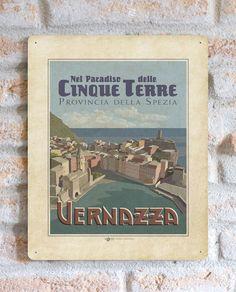 Nel paradiso delle cinque terre - Vernazza | TARGA | Vimages - Immagini Originali in stile Vintage