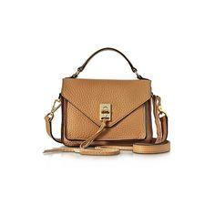 Rebecca Minkoff Handbags Sand Leather Mini Darren Messenger Bag (15.860 RUB) ❤ liked on Polyvore featuring bags, messenger bags, handbags, sand, sand bags, mini bag, beige leather bag, genuine leather bags and real leather bags