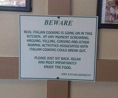 Italian Cooking...