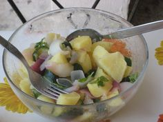 potatoes salad with capperi and olives Italian Language Courses, Cooking Courses, Olives, Fruit Salad, Potato Salad, Potatoes, Eat, Food, Fruit Salads