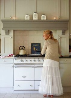 what color are the countertops? / Shabby_chic_kitchen_with_vintage_stove