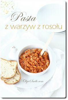Pasta z warzyw z rosołu Dips, Cereal, Pasta, Vegan, Breakfast, Food, Smile, Kitchen, Vegetables