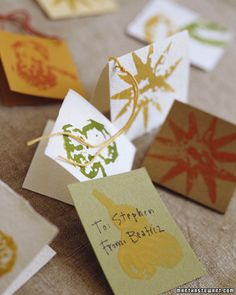 Simple stamps -- often created from household materials -- put your creativity…
