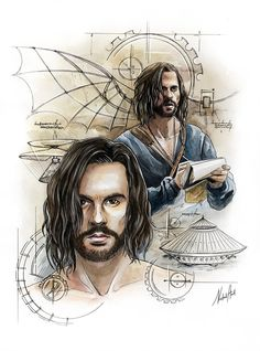 Da Vinci's Demons by NataliHall on DeviantArt Demons Tattoo, Astronomy Facts, Super Movie, Animal Drawings, Art Reference, Concept Art, Fan Art, Watercolor, Illustration