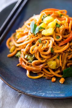 Sweet Potato Noodles with Coconut Curry