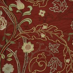 William Morris Fabrics and Wallpapers | Fabrics William Morris & Co Archive Embroideries Mary Isobel Fabric ...