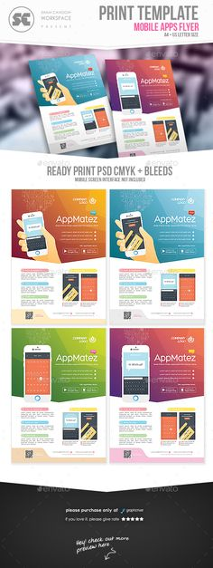 Mobile Apps Flyer Template PSD. Download here: http://graphicriver.net/item/mobile-apps-flyer/15684772?s_rank=7&ref=yinkira