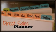 I put the forms and checklists I use into a direct sales planner. #organized #directsales