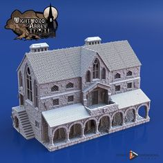 dnd Scriptorium Monastery Tabletop Scatter Terrain Wightwood Abbey RPG Warhammer D&D Dungeons and Dragons Wargaming RPG Games Minecraft Medieval, Minecraft Houses, Minecraft Projects, Minecraft Stuff, Minecraft Ideas, Medieval Houses, Medieval Castle, Medieval Fortress, Medieval Fantasy
