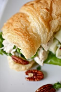 classic fav - chicken salad with apples and pecans :) perfect for end of hot summer while waiting for fall :)