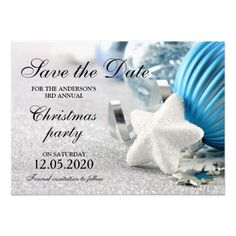 Christmas Or Holiday Party Save The Dates 4.5x6.25 Paper Invitation Card