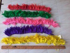 bulu rumbai - salah satu bahan bahan bulu untuk gantungan dreamcatcher