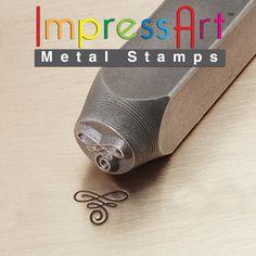 Metal design stamp, flourish a. $8.95, via Etsy.