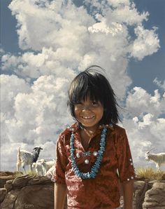 Ray Swanson (American, 1937-2004) Navajo happiness (Painted in 1983)