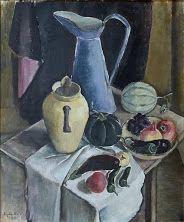 Still Life with Blue Jug 1934  Agda Holst