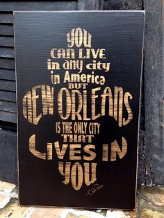 Oh my gosh, I want this sign!!!  Fleurty Girl - Everything New Orleans - NOLA Lives In You Sign
