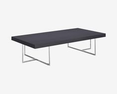 Scandinavian Designs - With a low profile, the Mondiana rectangular coffee table is ideal for formal and casual spaces. Uniting a high-gloss grey koto veneer with a chromed iron base.