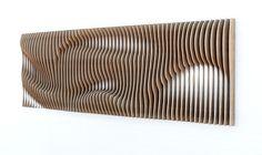 parametric wall by Denis Homyakov on Behance Parametric Architecture, Parametric Design, Architecture Diagrams, Architecture Portfolio, Parametrisches Design, Wood Design, Acoustic Wall, Cnc Wood, Digital Fabrication