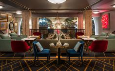 It's called Christiania Teater and it's a very luxurious mid-century restaurant filled with only the best lighting designs you can imagine.