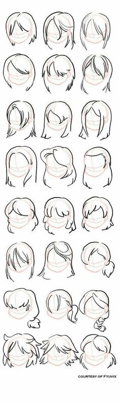 Hairstyles- straight by =fyuvix: design reference, drawing reference, hair reference, Drawing Lessons, Drawing Techniques, Drawing Tips, Drawing Ideas, Drawing Art, Hair Styles Drawing, Cartoon Drawing Styles, Drawing Cartoons, How To Draw Cartoons