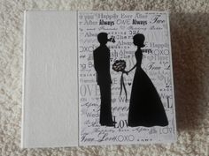 6x6 Black and White Wedding Scrapbook Photo by SimplyMemories, $28.95