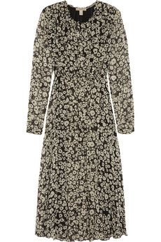 Burberry Brit Printed silk-georgette midi dress   NET-A-PORTER