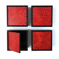Don't quite have 350 dollars in my back pocket for a glorified Expedit box. I DO have contact paper and scissors! #diy Botanical Box Red by Irvin Studio and Design