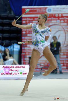 Alexandra SOLDATOVA (Russia) ~ Clubs @ World Challenge Cup Minsk 05/08/'17 ☘☘ Photographer Pawel S.
