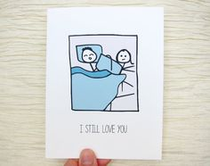 Funny Valentine. Valentines Day Card. Bed hog  I still by witsicle, $4.00