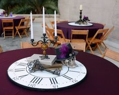 20 Creative Steampunk Wedding Centerpieces | HappyWedd.com I like this minus the skull....