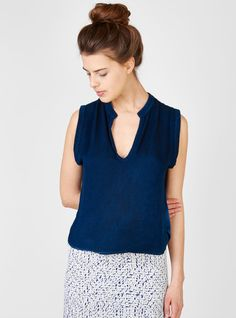 Couverture and The Garbstore - Womens - Rachel Comey - Able V-Neck Top Festival Essentials, Rachel Comey, V Neck Tops, Blouses, My Style, How To Wear, Women, Fashion, Moda
