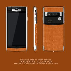 Exclusive in our made-to-order service, the beautiful stand out that is the Tangerine Alligator. #VertuMTO