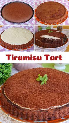 Turkish Recipes, Ethnic Recipes, Cheesecake Brownies, Banana Cream, Tiramisu, Tart, Cake Recipes, Food And Drink, Pie