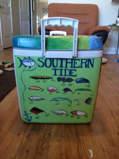 Southern Tide cooler, this would be so cute on my fishing cooler!!