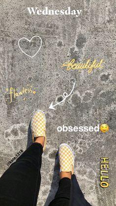 yellow checkered print ✨ slip on vans #checkers