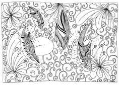 Le Creazioni di Kiara: crazy for DOODLING #12 ... FEATHERS ... piume piumette e piumaggi!
