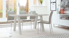 Zen Grey Gloss and Elise 6 Seater Dining Set from Danetti.
