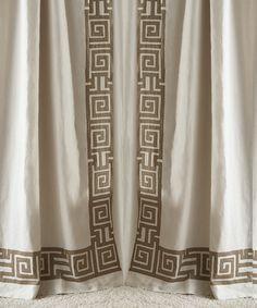 Onasis White & Gold Drapery Panel