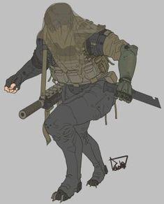 Jaeger Corps by obokhan on DeviantArt Cyberpunk Character, Cyberpunk Art, Anime Military, Military Art, Armor Concept, Concept Art, Character Concept, Character Art, Arte Ninja