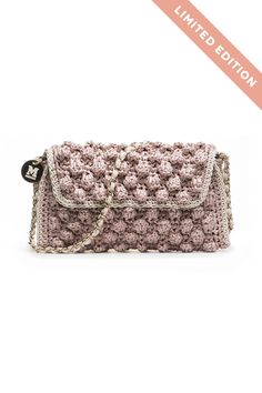 M-Missoni - ANTIQUE ROSE FAUX RAFFIA BAG